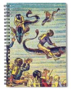 Underwater Race, 1900s French Postcard Spiral Notebook