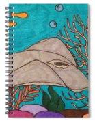 Underwater Stingray Spiral Notebook