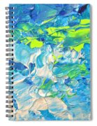Underwater Wave Spiral Notebook