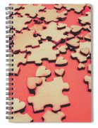 Unfinished Hearts Spiral Notebook