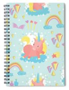 Unicorn And Rainbow Pattern Spiral Notebook