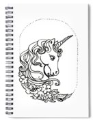 Unicorn Cameo Spiral Notebook