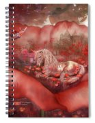 Unicorn Of The Poppies Spiral Notebook