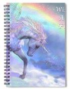 Unicorn Of The Rainbow Card Spiral Notebook
