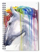 Unicorn Rainbow Watercolor Spiral Notebook