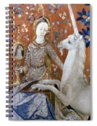 Unicorn Tapestry, 15th C Spiral Notebook