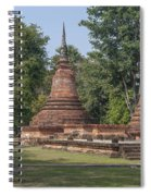 Unidentified Wat Wihan And Chedi Dthst0074 Spiral Notebook