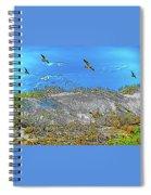 Uninhabited Beach  Spiral Notebook