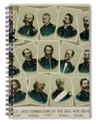 Union Commanders Of The Civil War   Spiral Notebook