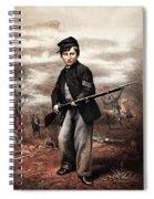 Union Drummer Boy John Clem Spiral Notebook