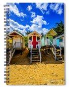 Union Jack Beach Hut 2 Spiral Notebook