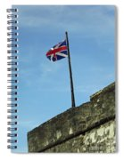 Union Jack Over The Castillo Spiral Notebook