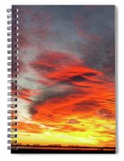 Union Lake Sunrise Feb 14th 2011 - Longmont - Boulder County - C Spiral Notebook