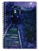 Union Pacific At Night Spiral Notebook