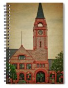 Union Pacific Railroad Depot Cheyenne Wyoming 01 Textured Spiral Notebook