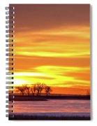 Union Reservoir Sunrise Feb 17 2011 Canvas Print Spiral Notebook