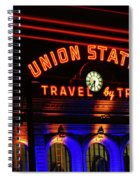 Union Station Lights Spiral Notebook