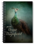 Unique And Magnificent - Peacock Art Spiral Notebook