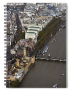 Unique And Rare Aerial View Of Iconic City Of London Spiral Notebook