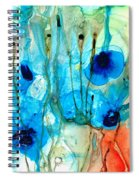 Unique Art - A Touch Of Red - Sharon Cummings Spiral Notebook