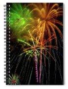 Unique Fireworks Spiral Notebook