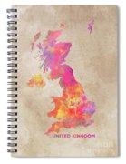 United Kingdom Map Spiral Notebook