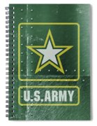 United States Army Logo On Green Steel Tank Spiral Notebook