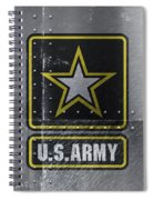 United States Army Logo On Steel Spiral Notebook