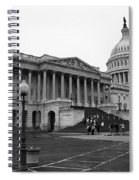 United States Capitol Building 2 Bw Spiral Notebook