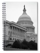 United States Capitol Building 4 Bw Spiral Notebook