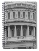 United States Capitol Building Bw Spiral Notebook