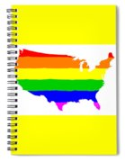 United States Gay Pride Flag Spiral Notebook
