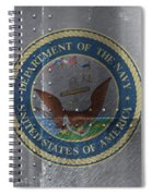 United States Navy Logo On Riveted Steel Boat Side Spiral Notebook
