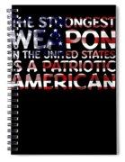 United States Patriotic American Spiral Notebook