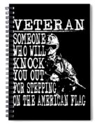 United States Proud Veteran American Spiral Notebook