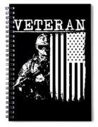 United States Veteran Flag And Soldier Spiral Notebook