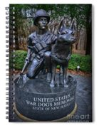 United States War Dog Memorial Spiral Notebook