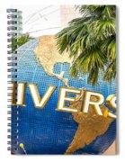 Universal Studio Globe Spiral Notebook