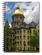 University Of Notre Dame Main Building 1879 Spiral Notebook