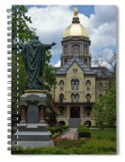 University Of Notre Dame Main Building Spiral Notebook