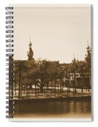 University Of Tampa - Old Postcard Framing Spiral Notebook