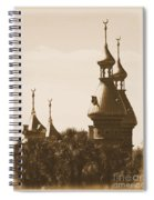University Of Tampa Minarets With Old Postcard Framing Spiral Notebook