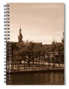 University Of Tampa With River - Sepia Spiral Notebook