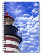 Unmistakable In Any Weather - West Quoddy Head Lighthouse Spiral Notebook
