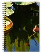 Unopened Water Lily And Reflections Spiral Notebook