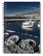 Unplugged At The Harbour - Toned Spiral Notebook