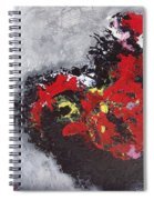 Unread Poem Black And Red Paintings Spiral Notebook