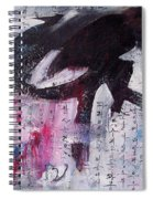 Unread Poem Black And White Paintings Spiral Notebook