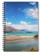 Unspoiled Alpine Scenery In Kinloch Wharf, New Zealand Spiral Notebook
