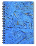 Untitled-weathered Wood Design In Blue Spiral Notebook